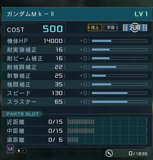 バトオペ2 ガンダムMk-II スペック