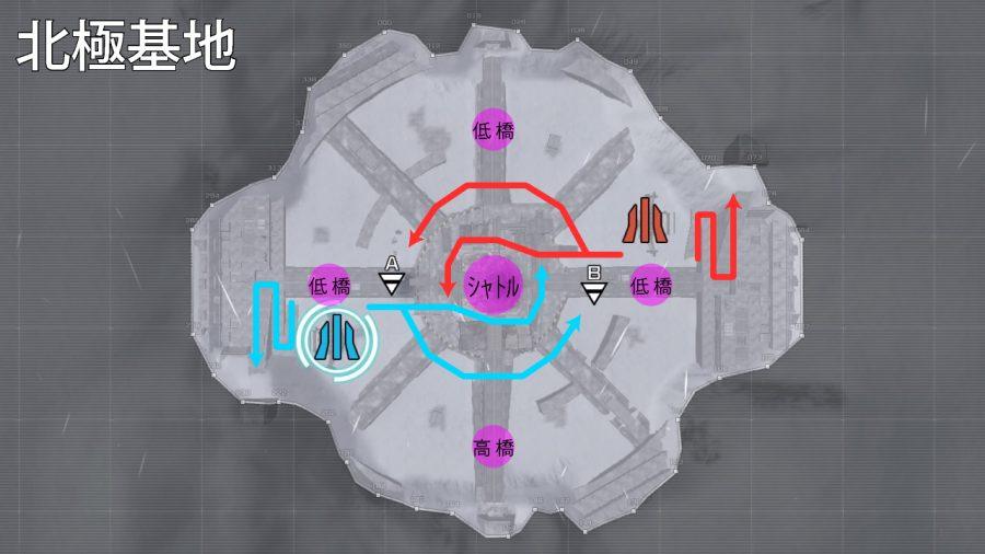バトオペ2-北極基地 進軍ルート