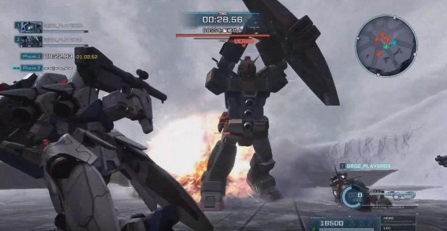 サイコガンダムの格闘攻撃!