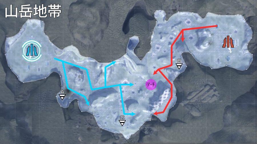 バトオペ2-山岳地帯 進軍ルート