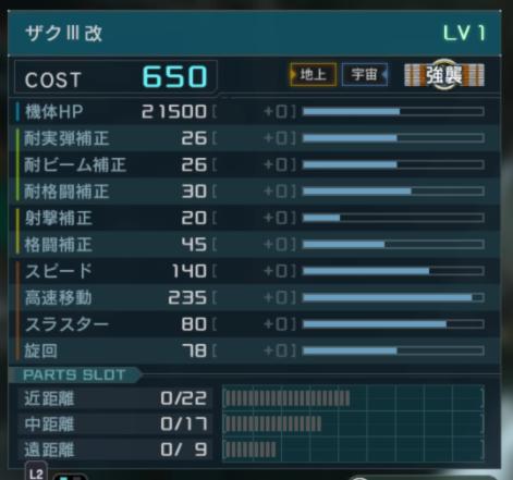 ザクⅢ改 スペック
